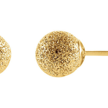 14k Yellow Gold Stardust Ball Stud Earrings (6mm)