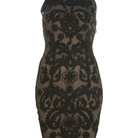 Mesh Applique Dress - Dresses - Clothing - Miss Selfridge