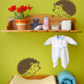 Hedgehog wall decals