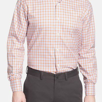 Men's David Donahue Regular Fit Gingham Sport Shirt,