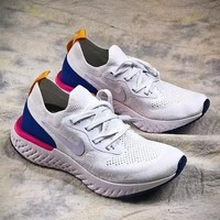 Nike Epic React Flyknit fly-knit super light running shoes F-ADD-MRY white