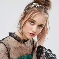 ASOS Occasion Metal Flower Headband at asos.com