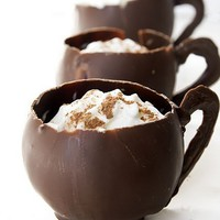 Hot Chocolate in Chocolate Cups