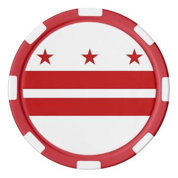Poker chips with Flag of Washington DC