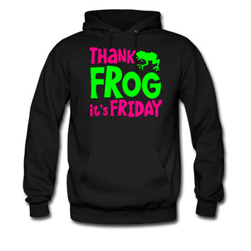 THANK FROG IT's FRIDAY office humour with cute little frog hoodie sweatshirt tshirt