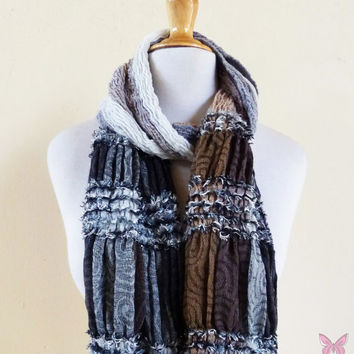Scarf - ROCKSTYLE MULTI II - Luxury textured long chunky scarf - unisex accessories