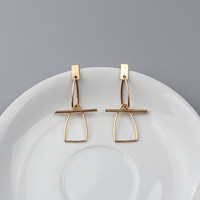 Women's hollow geomtric gold Stud Earrings a13442