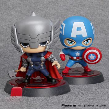 Avengers Captain America Thor Bobblehead PVC Action Figure Collectible Model Toy HRFG478