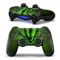 original package PVC High quality Green Leaf Sticker Cover Decal Protector For PS4 Controller Playstation 4 Gift