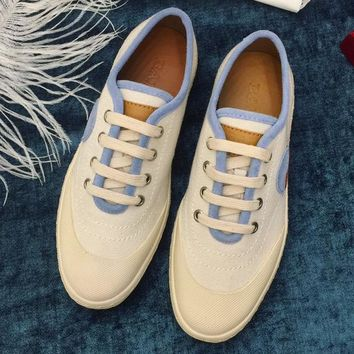 Bally  Women Fashion Simple Casual Canvas  Shoes