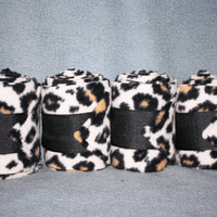 Cheetah Polo Wraps (set of four)