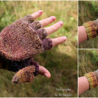 Convertible Mittens With thumb flap knitting pattern PDF download - suitable for advanced beginners , photographer mittens, DIY holiday gift