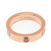 Cartier Woman Fashion LOVE Diamond Plated Ring For Best Gift