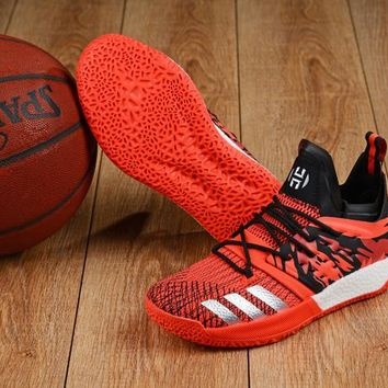 KUYOU A158 Adidas James Harden Vol.2 Boost Training Basketball Shoes Black  Red Sliver 7fabfbc7fa2d