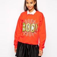 Pop Boutique | Pop Boutique Boo Halloween Sweatshirt at ASOS