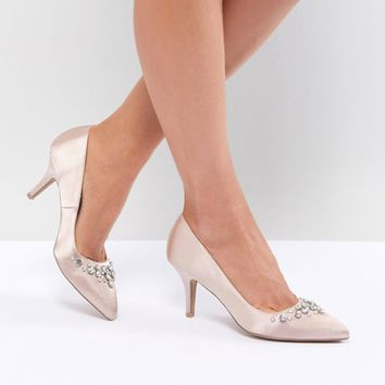 QUPID Bridal Embellished Pointed Heels at asos.com