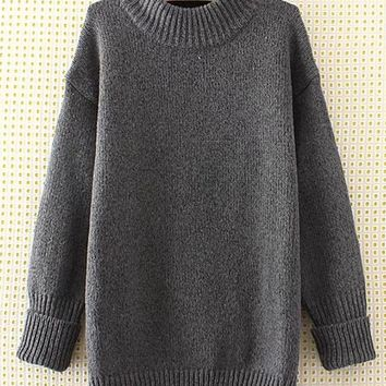 Vintage O-neck Long Sleeves Sweaters For Women