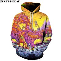 2017 New Arrival Rick and Morty Hoodie 3D Hoodies Pullover Hoodie Unisex 6XL Plus Size Drop Shipping