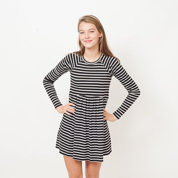 BCBGeneration - Striped Baby Doll Dress