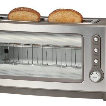 Glass Toaster Breead Bagel See Through Clear Defrost Transparent Appliance Reheat Best Toasters