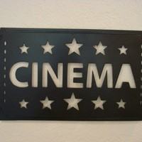 Cinema Movie Ticket Metal Wall Art