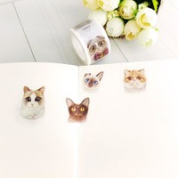 1X Kawaii kitten  Decorative adhesive tapes Paper washi tape 25mm*7 m for scrapbooking stationery school Office supplies