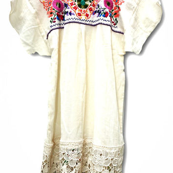 White mexican dress, Mexican wedding dress, White embroidered dress,  Buy white mexican dress, White embroidered mexican dress, Hippie dress