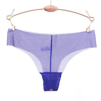 LMFIJ6 Ixuejie Super Sexy Design Low Waist Transparent G String Lure Thin Solid T Back Panties Ladies Underwear