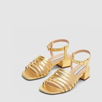 METALLIC HIGH-HEEL SANDALS DETAILS