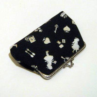 Alice In Wonderland Frame Pouch - Black And White Frame Purse | Luulla