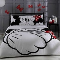 1 X Disney, Mickey & Minnie, Adore, Bedding Set, Double (Queen)