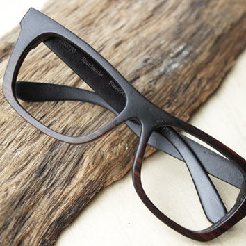 Customize Walker2014 Handmade  Large size Square Ebony Wooden Eyeglasses Wood Sunglasses XXL Frame