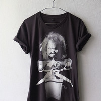 Chucky Doll Childs Play Fashion Pop RockT Shirt M