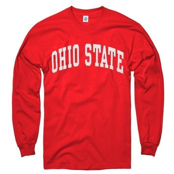 Ohio State Buckeyes Scarlet Arch Long Sleeve T-Shirt