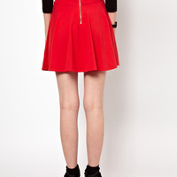 Lazy Oaf Circle Skirt With Pizza Zip