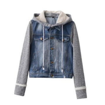 SIMPLE - Fashion Women Knit Hooded Jeans Outerwear Jacket a13214