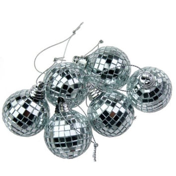 Mini Disco Ball Party Ornaments (Set of 6)