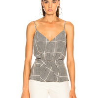 L'AGENCE Chiara Twist Tank in Black Multi | FWRD
