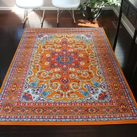 0532 Orange Oriental Area Rugs