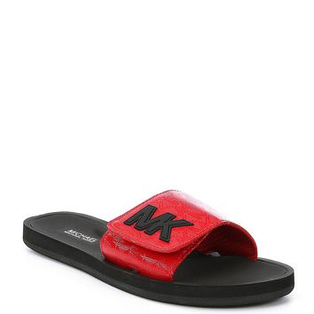 MICHAEL Michael Kors MK Patent Leather Logo Embossed Slide | Dillards