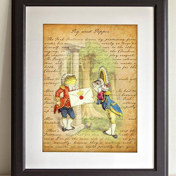 Chapter VI: Toad Delivers Invitation - 11x14 Unframed Alice in Wonderland Print