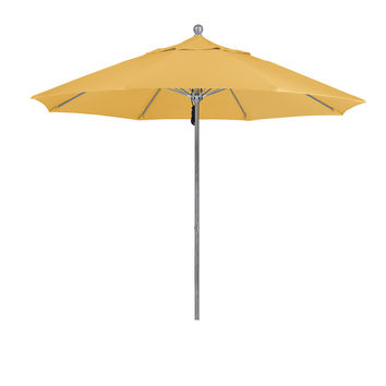 9 Foot 5A Sunbrella Fabric Aluminum Pulley Lift Patio Patio Umbrella with Silver Pole