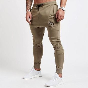 Men Joggers Casual Pants Brand Trousers Sporting Bodybuilding Sweatpants joggers