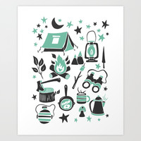Camp Life Art Print by Heather Dutton