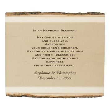 Irish Marriage Blessing Personalized Rustic Art