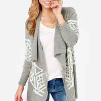 Southwest Side Story Grey Cardigan Sweater