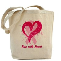 Run For Heart Tote Bag