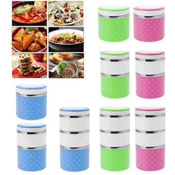 New 1-3 Layer Stainless Steel Insulation Thermo Thermal Lunch Box Food Containe