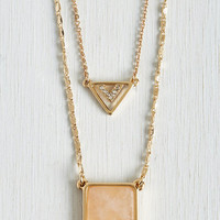 Boho Shine in the Afternoon Necklace by ModCloth