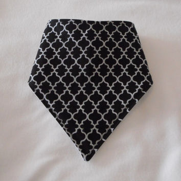 Baby Bandana Dribble/Drool Bib Black Pattern